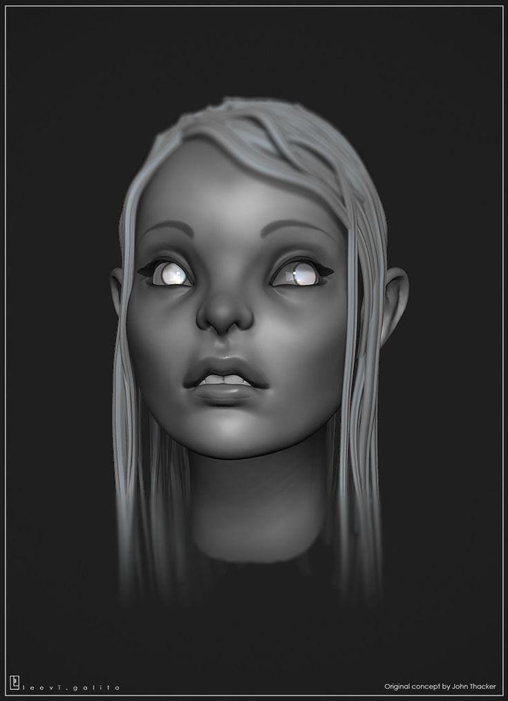 ArtStation - Head sculpt, Leevï Galita