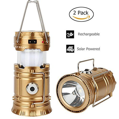 GT+ROAD+Solar+Led+Camping+Lantern+Flashlight+Rechargeable(2Pack/4Pack/6Pack/10Pack)