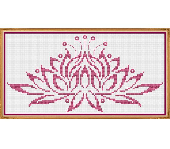Water Lily - Counted Cross Stitch Pattern by HornswoggleStore, $5.00 (modern, flower, pretty, easy)
