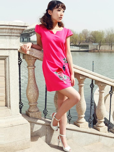 #Wholesale lovely womens dress with chinese embroidery  Only$11.30