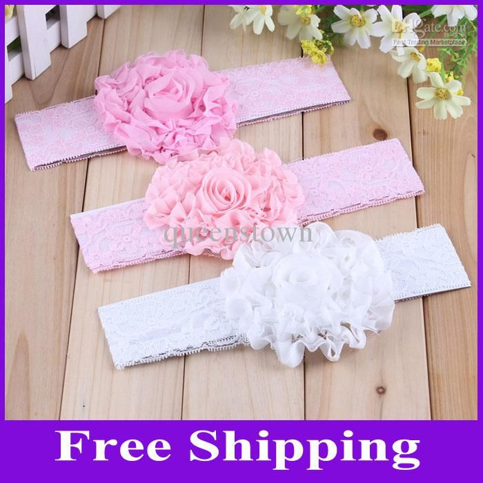 Wholesale Baby Bows - Buy Baby Flower Headbands Children Hairbands Hair Accessory Lace Babies Headbands $0.74 | DHgate