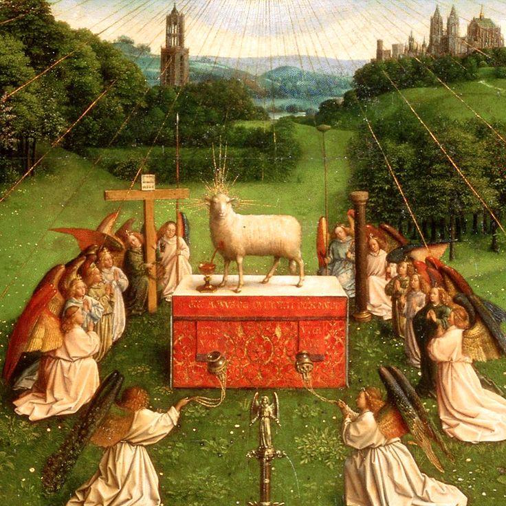 Jan van Eyck – Adoration of the Mystic Lamb (detail) (c. 1432)