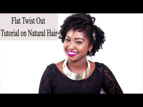 How To: Flat Twist Tutorial on Natural Hair - YouTube