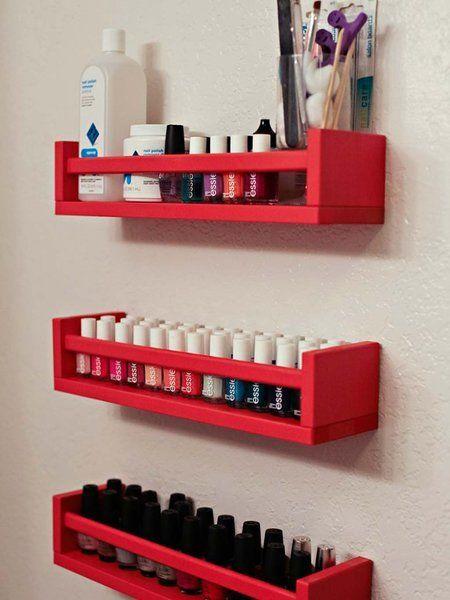 estantes para esmaltes de uñas