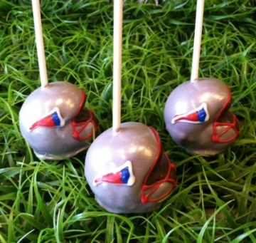 Patriots cake pops!. awesome idea