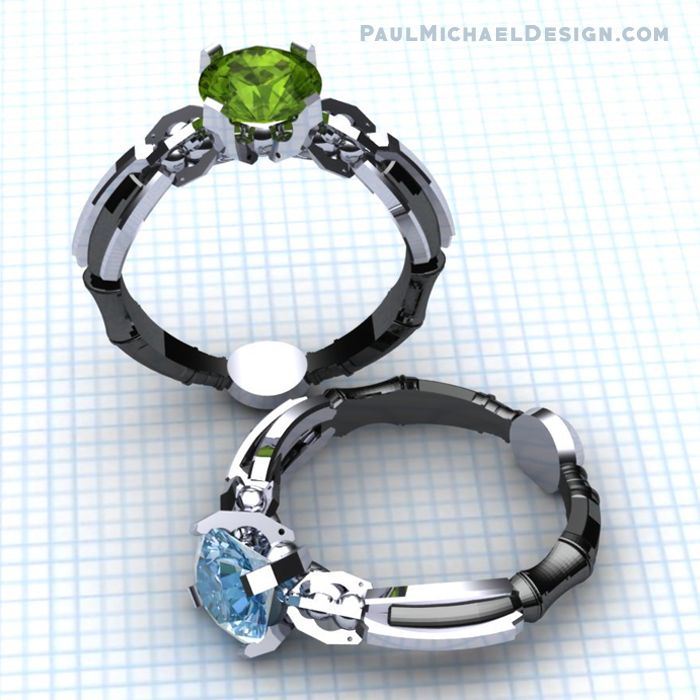 The Sonic Solitaire Ring Rendering