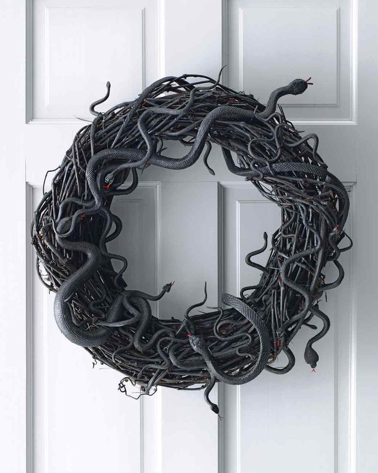 330 best Wreaths! images on Pinterest Crowns, Decor ideas and - martha stewart outdoor halloween decorations