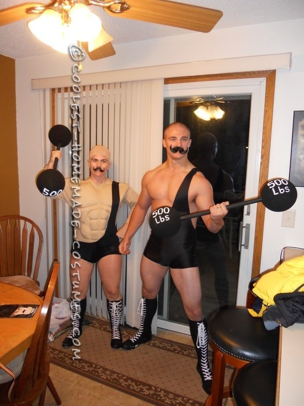 Coolest Homemade Circus Strong Men Costumes