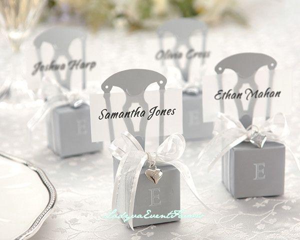 Silver chair favor box