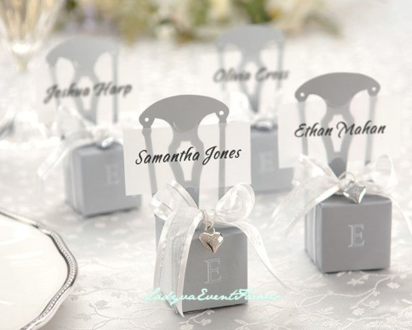 Silver chair favor box