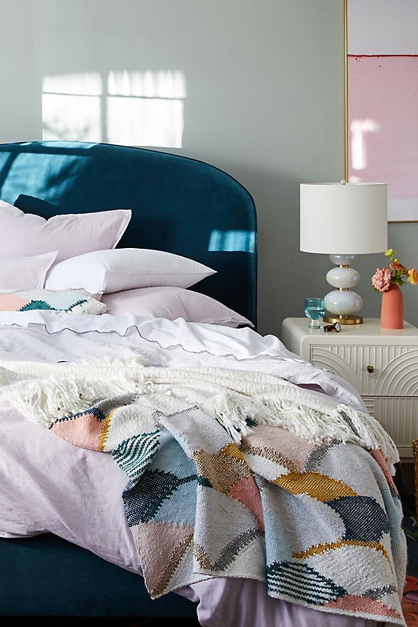 Hello Hydrangea Scalloped Knit Throw Blanket Knitted Throws
