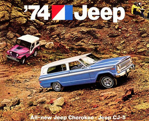 1974 Jeep Cherokee & CJ-5 advertisement