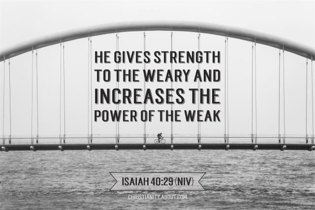 When You Are Weak - Isaiah 40:29