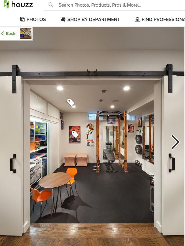 Basement Gym From Houzz Home Gym Decor Basement Gym Home Gym Design