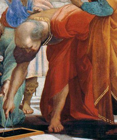 Musei Vaticani - Stanze di Raffaello. Stanza della Segnatura. The school of Athens (Euclidean, detail)