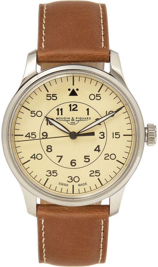 J.Crew Mougin & Piquard x Grande Seconde Stainless Steel Watch sur shopstyle.fr