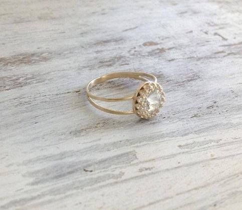 Spectacular+Beauty+%21%21%0D%0A+Gold+cocktail+ring%2C+romantic+and+super+delicate.%0D%0A+Very+high+quality+14K+gold+plated+ring+withclear+crystal+swarovski+stone+inlay+%0D%0A+-spectacular+and+delicate%21%0D%0A