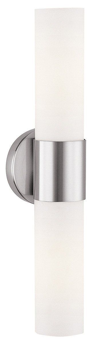 Access Lighting 20442-BS/OPL Aqueous 2-Light ADA Wall Fixture, Brushed Steel Finish with Opal Glass Shade - Wall Sconces - Amazon.com