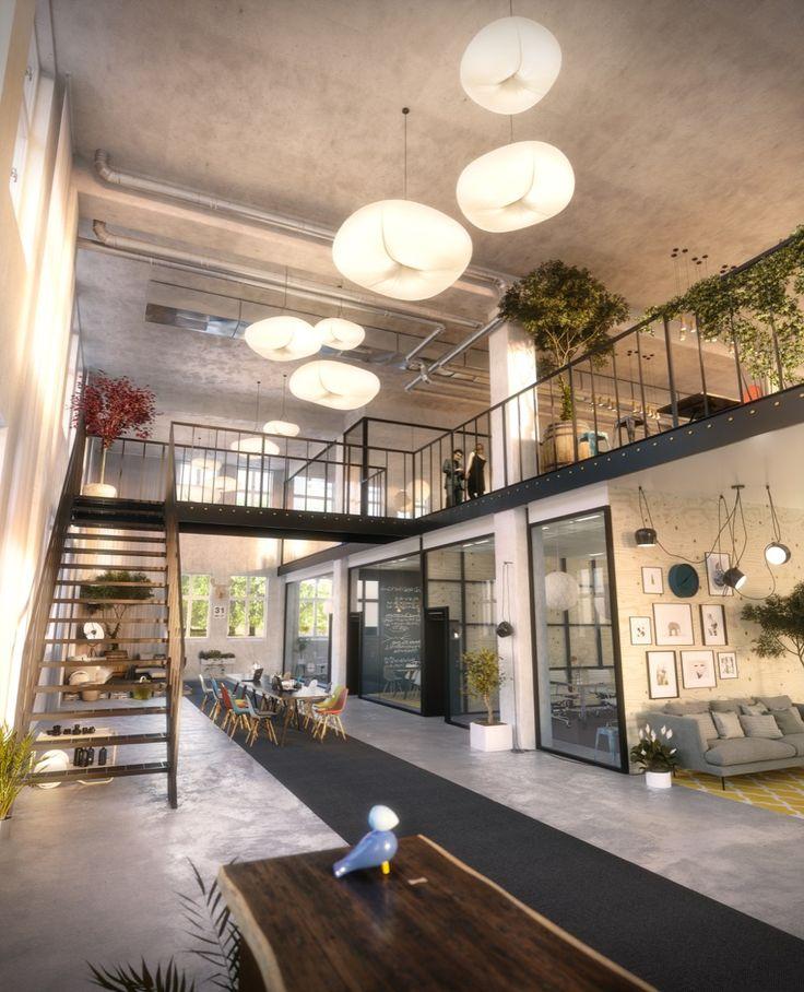Galjaden Office, Stockholm, Vsters Interior design, Scandinavian design,  3D visualisation, render