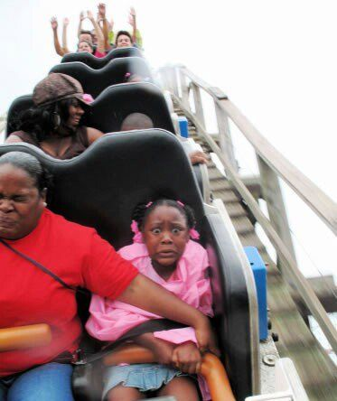 """Hold on Shaniqua, we goin' down!!"""