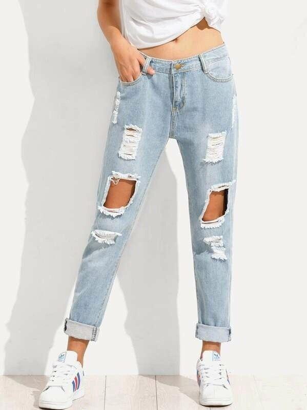 Картинки модные рваные джинсы