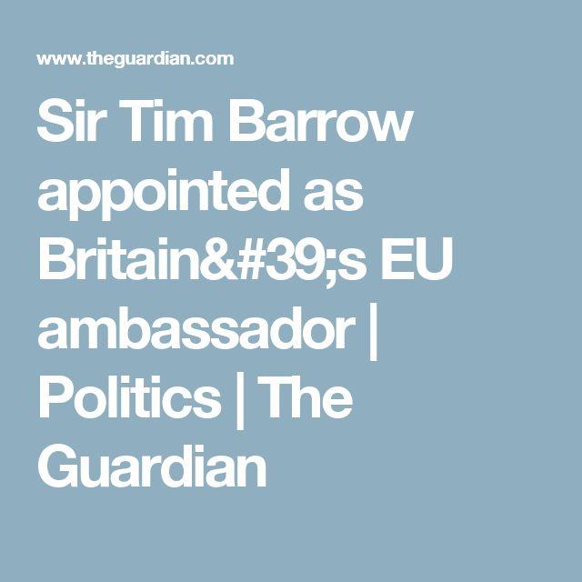 Sir Tim Barrow appointed as Britain's EU ambassador | Politics | The Guardian