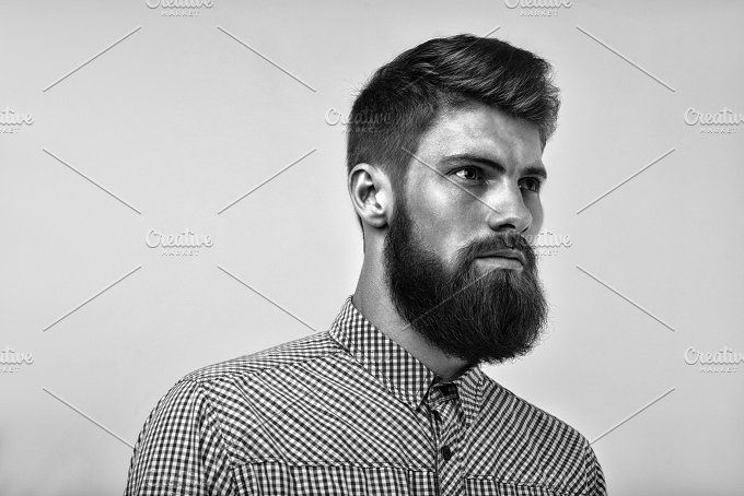 Brutal bearded  man portrait by Usmanov Stock Photography on @creativemarket