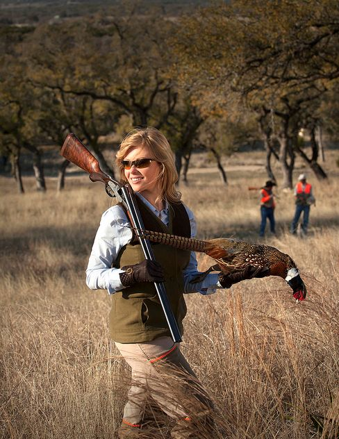 Pheasant in hand ~ of course, she could go after two in the bush ... and bag them as well