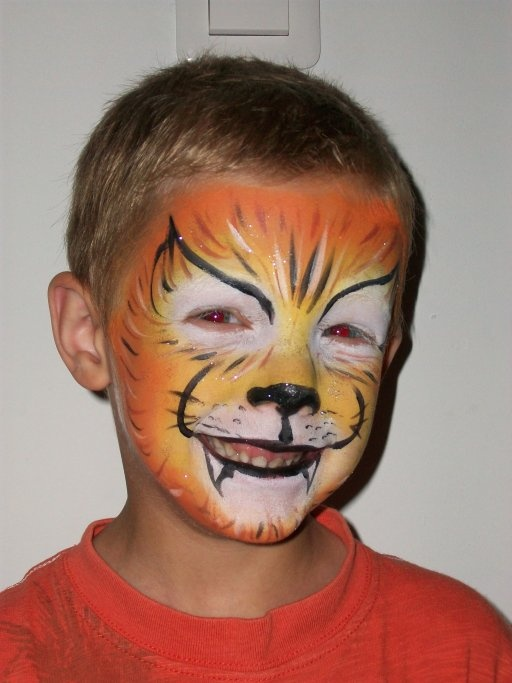 Maquillageenfant lion maquillage enfant clown carnaval mardigras halloween je maquille - Maquillage simple enfant ...