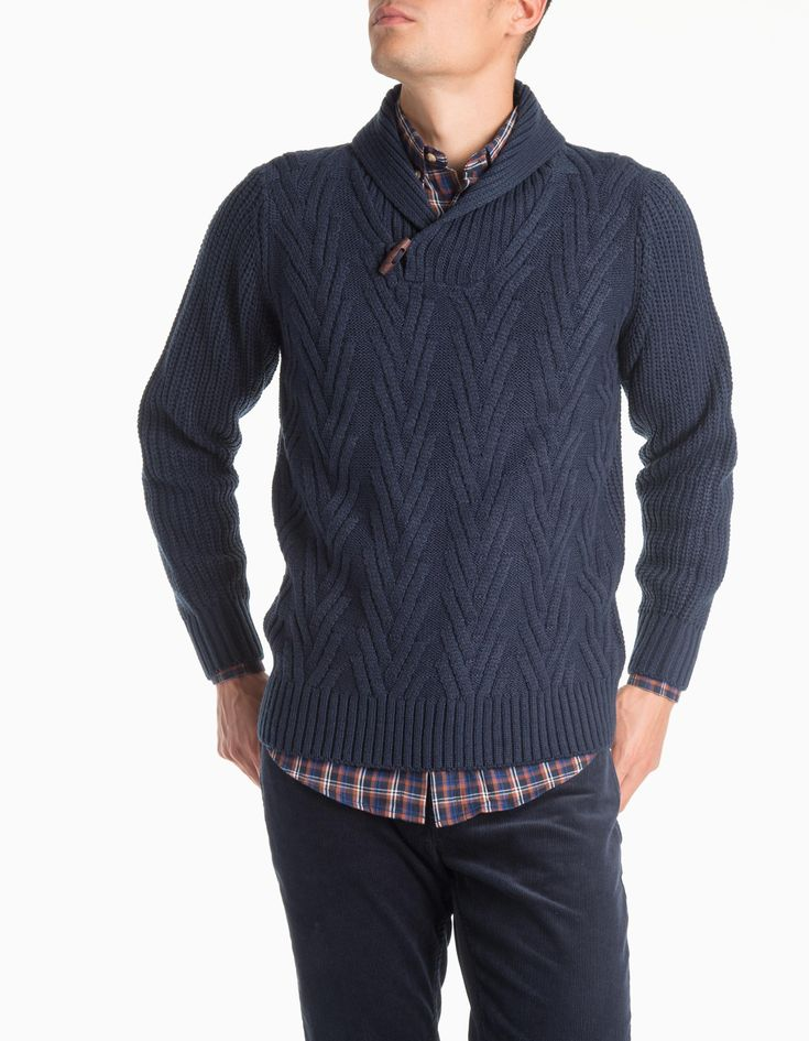 Camisola malha gola (marinho): MO (22,99€) ✓