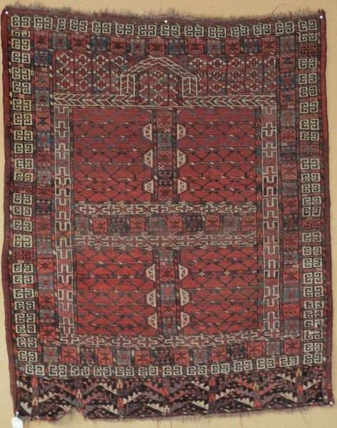 Yumut Ensi Central Asia Early Century X Exhibitor Aaron Nejad Antique Rugs From Uk Dealers On Display In Vienna 15 September 2016