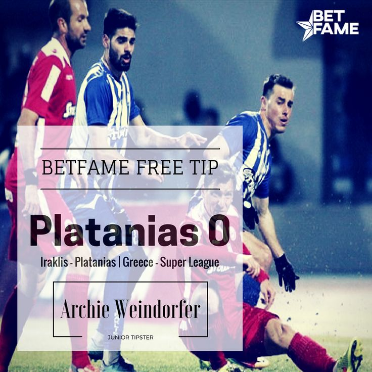BetFame free soccer tips, contributed by Archie Weindorfer . Iraklis - Platanias, Platanias 0 at odds 1.70 #betfame