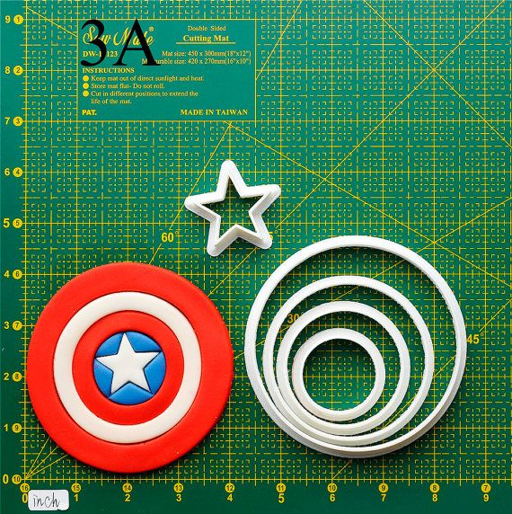 Captain America Cookie Cutter.The cookie cutters let me make a pretty cookie so easy. Oh , i like it. Do you want to have a try? It't really fantastic!If you like it, please follow me and REPIN the cookie cutters  on my board thank you very much.Best wishes for you !