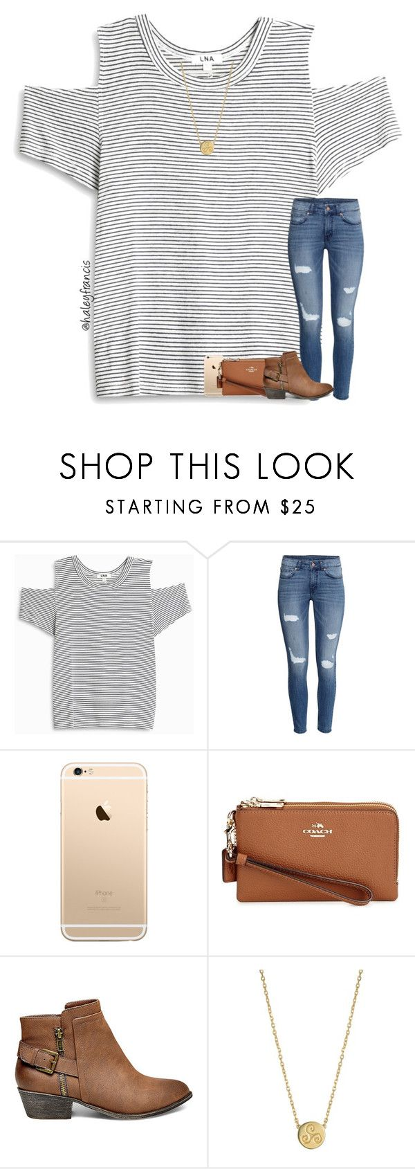 """Going to play tennis today "" by haleyfrancis ❤ liked on Polyvore featuring LnA, H&M, Coach, Steve Madden and Liwu Jewellery"