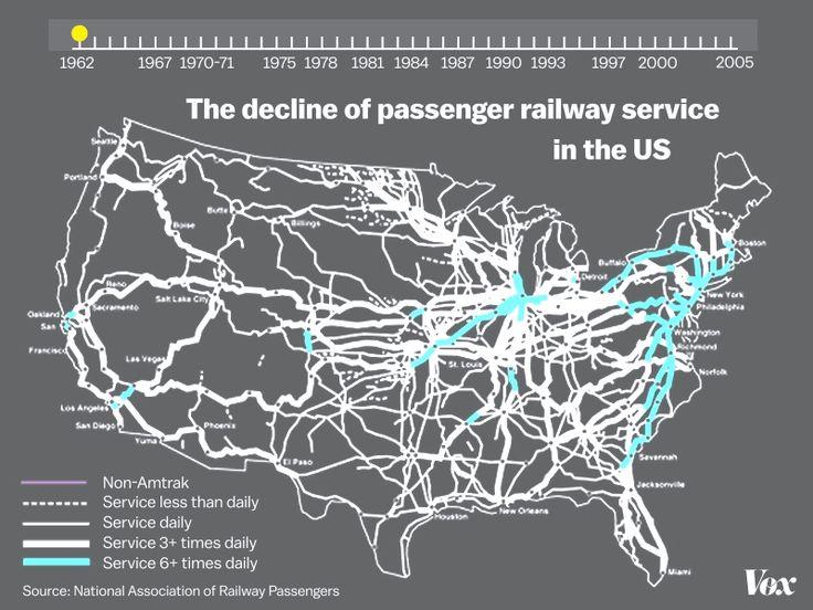 Best Maps Americas USA Whole Images On Pinterest - Us passenger train map