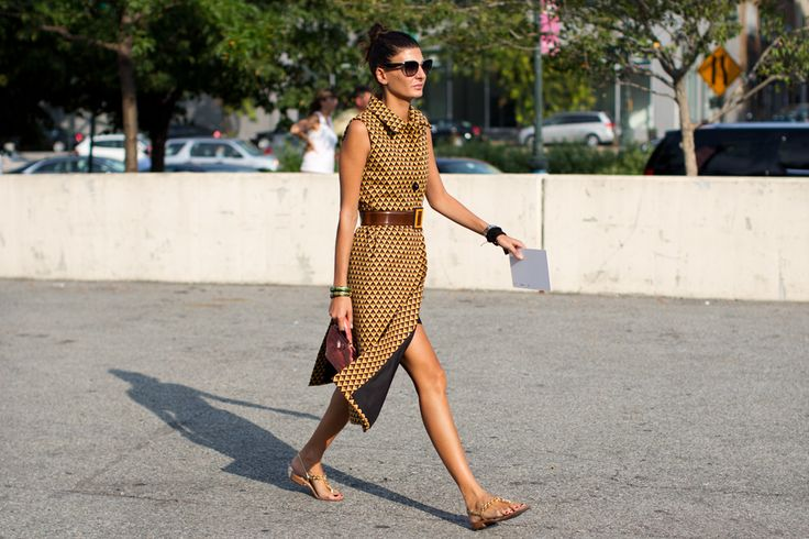 On the Street…..Before Alexander Wang, New York « The Sartorialist: Graphics Prints, Fashion Week, Giovanna Battle, Style Icons, The Sartorialist, New York, Alexander Wang, The Dresses, Street Chic