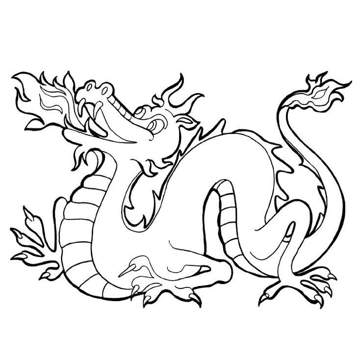 Coloriage Dragon Chinois a Imprimer Gratuit