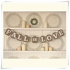 "Wedding+Décor+Romantic+Vintage+""+FALL+IN+LOVE""++Engagement+Banner+Photo+Booth+Props+–+USD+$+18.00"