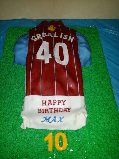 Aston Villa Birthday Cake