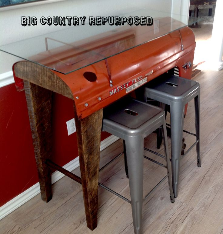 Massey Ferguson Tractor Hood And Grill Repurposed Into A