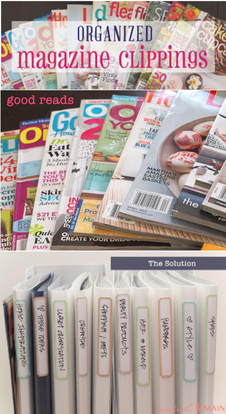 'Organize Your Magazine Clippings...!' (via modishandmain.com)