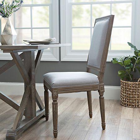 Kirklands Dining Chairs Wooden Kids Rectangle Louis Gray Chair Home Furniture Fixtures