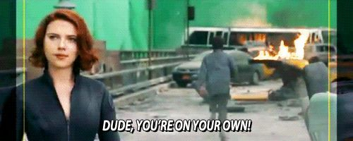 Bruce Banner- You're on your own! *runs away*  from blooper reel lol xD