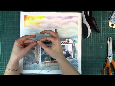 Scrapbooking process video by jenandtricks