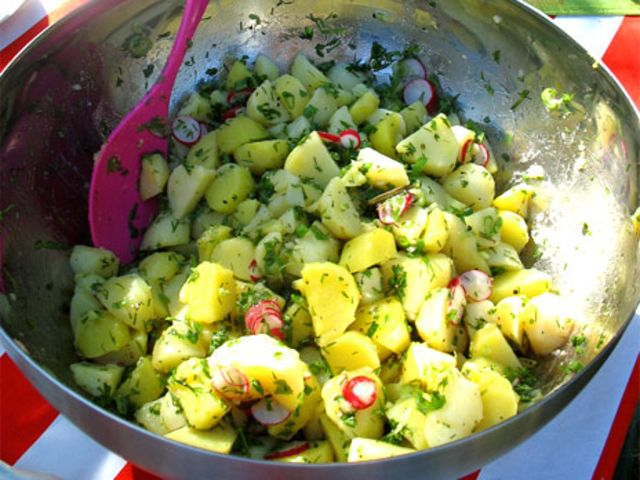 Ernst potatissallad (kock Ernst Kirchsteiger)