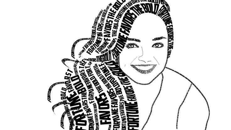 Image result for typographic portrait