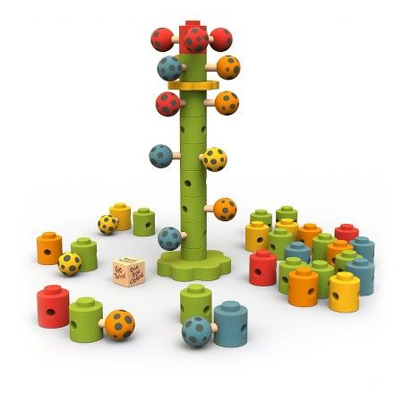 www.target.com p beginagain-wooden-ladybug-flower-tower-game - A-51257522
