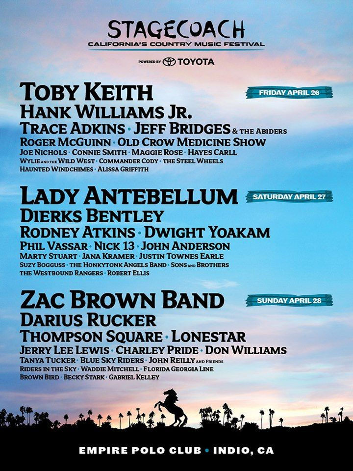 Stagecoach 2013 Lineup Poster
