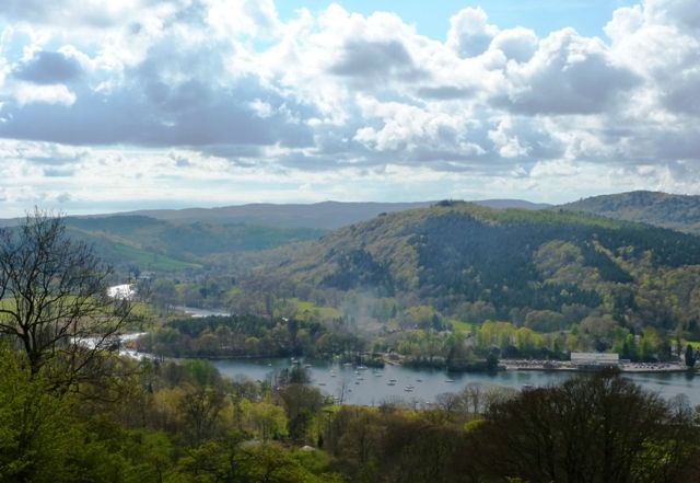 View over Lake Windermere in the lakes district of England