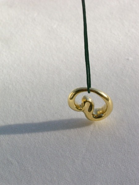 'Full & Empty' pendant silver and gold plated
